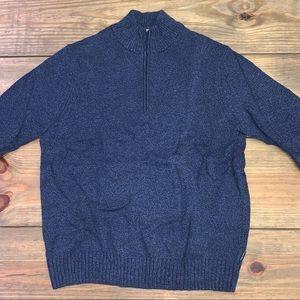 Calvin Klein Cotton 1/4 Zip Sweater